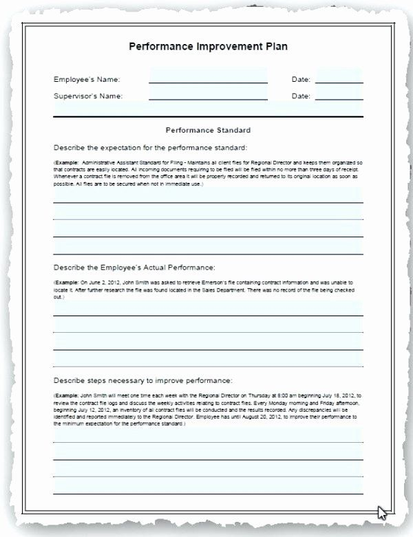 Employee Performance Improvement Plan Template Luxury Employee Performance Improvement Plan Template Excel Free How To Plan Workout Plan Template Templates