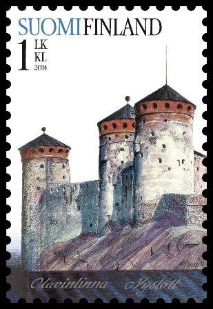 Burg Olavinlinna auf finnischer Briefmarke