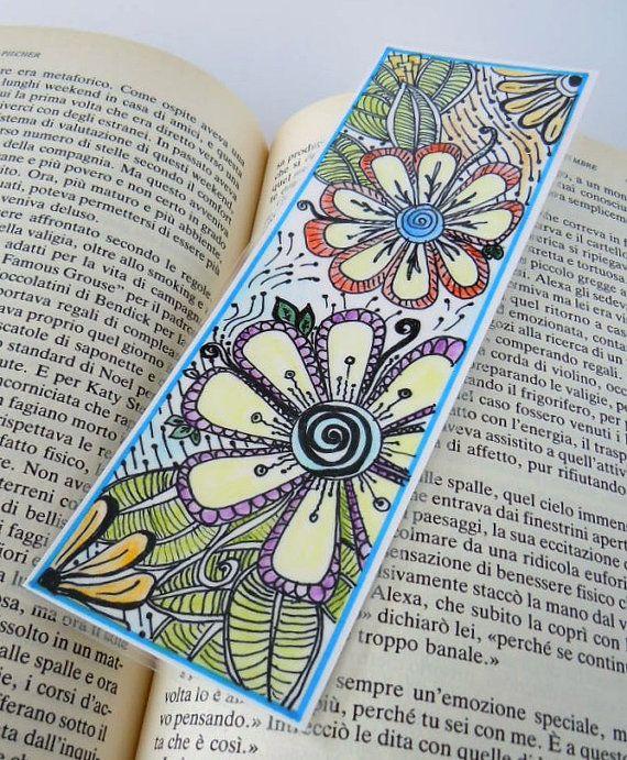 Original Zendoodle  Zentangle Art Bookmark by valeriatelier, $10.00
