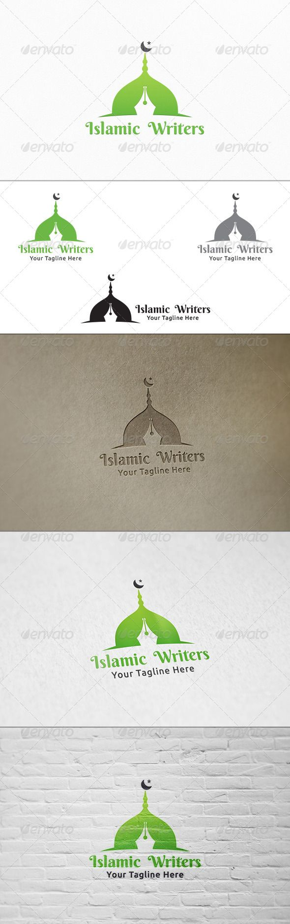 Islamic Writers  Logo Template — Vector EPS #muslim #mosque • Available here → https://graphicriver.net/item/islamic-writers-logo-template/8319013?ref=pxcr