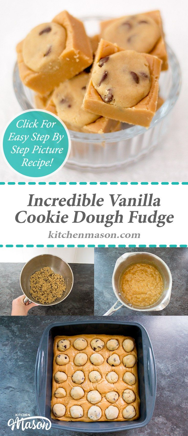 Incredible Cookie Dough Fudge | Vanilla | Chocolate Chip