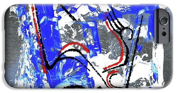 IPhone Case featuring the painting Modern Abstract _ 5 by Rupam Shah
