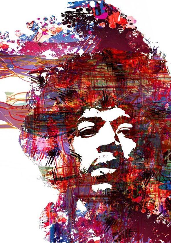 Purple Haze – Jimi Hendrix by pixelputa. Happy birthday!