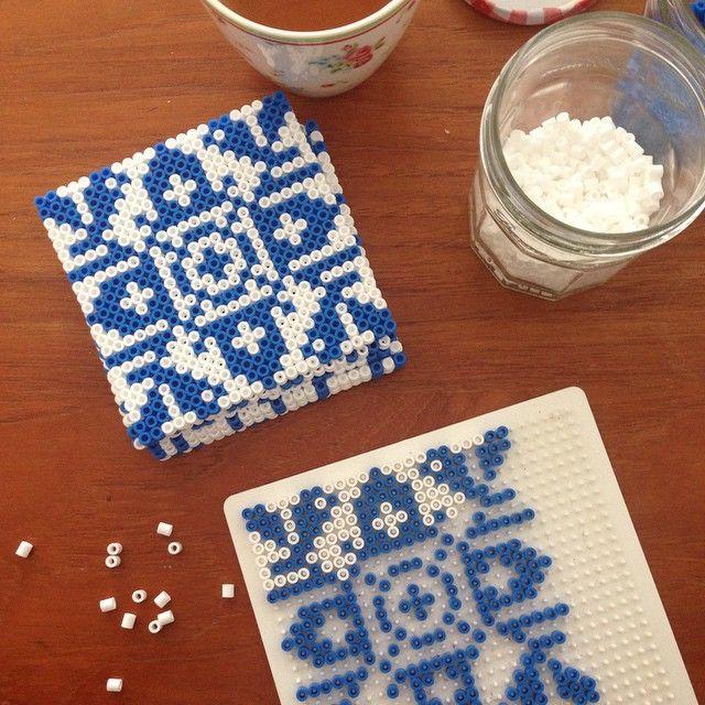 Snowflake tiles hama perler beads by freubelweb