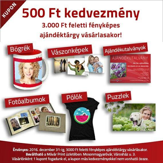 500 Ft-os kuponunk letölthető weboldalunkról! www.movar-print.hu