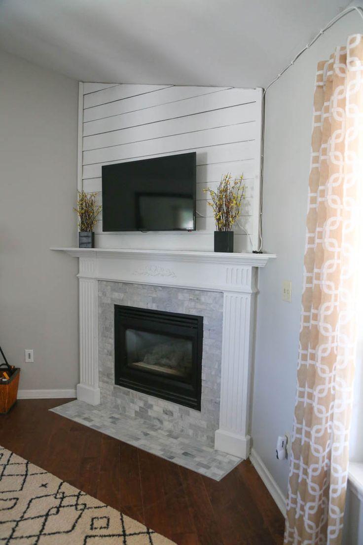 Mantel Makeover 2 0 Basement Remodeling Brick Fireplace