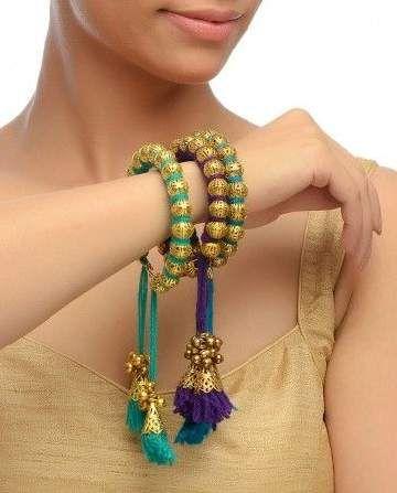 Beautiful; silk thread bangles