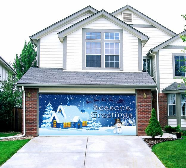 Christmas Garage Door Decoration
