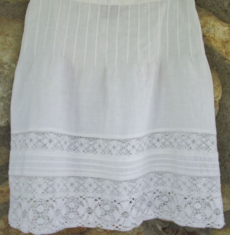 Juicy Couture Skirt A-Line Linen Crochet Lace Hip Stitched Off White Womens Sz 4 #JuicyCouture #ALine