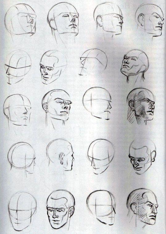 картинки как нарисовать голову человека поэтапно получит максимум удовольствия