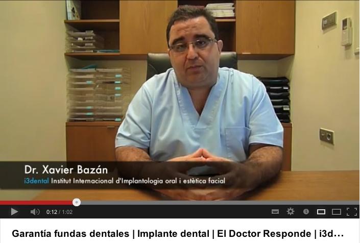 """Doctor, cuánto tiempo de garantía tendría si me pongo una funda dental en i3dental?    Nuestras prótesis sobre implantes, tanto una funda como una rehabilitación completa están garantizadas durante 2 años.    Es decir cuando los implantes ya están colocados en el hueso y perfectamente integrados, fabricamos la prótesis sobre implantes con materiales de alta calidad y colocamos la funda sobre el implante, a partir de ese momento damos 2 años de garantía"""" www.i3dental.com"""