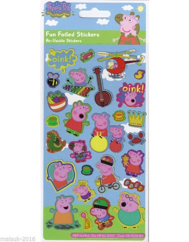 Paper Project PEPPA PIG OINK Reusable Craft Stickers Age 3