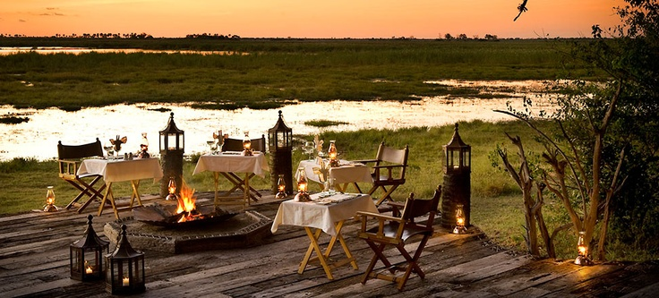 Dinner for two in Africa