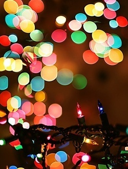 Christmas lights are just magical.