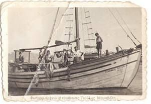 Greece-Ελλάδα,Λουτρά Αιδηψού,στο λιμάνι με την ανεμότρατα.