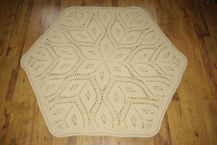 Doily round rug, 63'' (160 cm)/Rugs/Rug/Area Rugs/Floor Rugs/Large Rugs/Handmade Rug/Carpet/Wool Rug by AnuszkaDesign on Etsy