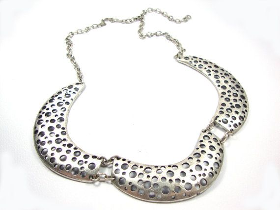 Modern Style Hammered Oxidised Pendants Pewter Necklace 40 - 60 cm Adjustable Length on Etsy, 45,00 €