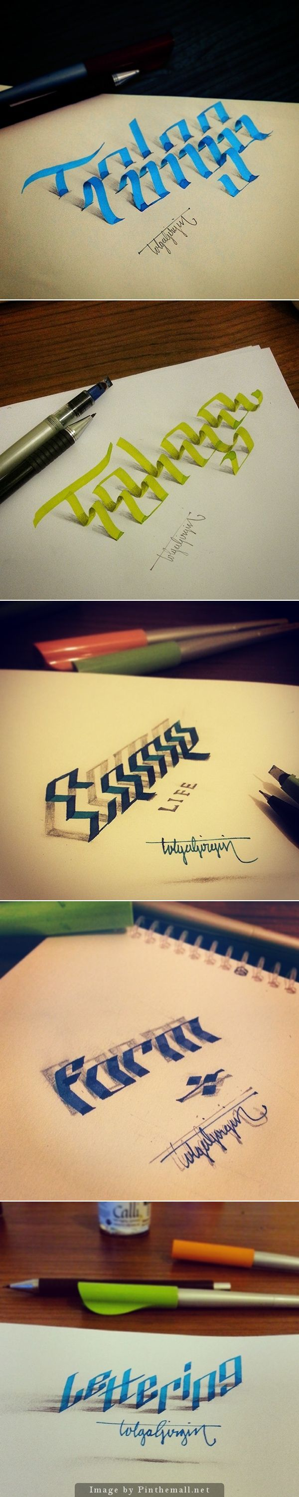 3D type by Tolga Girgin... - a grouped images picture