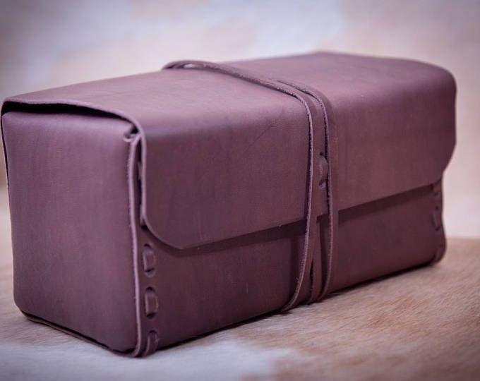 Neceser 'Café negro' cuero Dopp kit neceser de cuero, kit de aseo de los hombres, estuche de viaje de los hombres, kit de afeitar