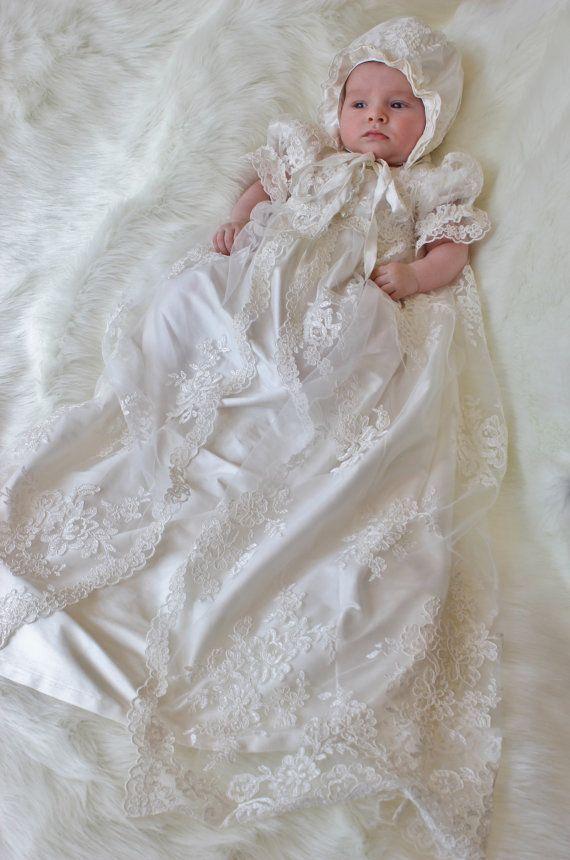 Baby Girl Baptism Gown Christening Dress – fashion dresses