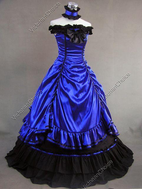 Southern Belle Civil War Ball Gown Prom Dress Reenactment Halloween Costume