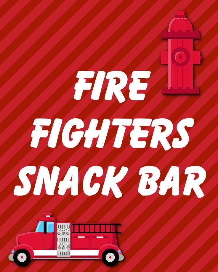 Firefighter Birthday Printables: Firefighters Snack Bar, 2014 Copyright Christine Hull, Windy Pinwheel