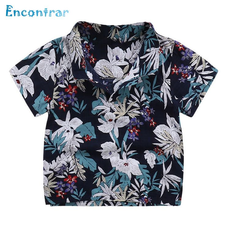 >> Click to Buy << Encontrar Summer Floral Polo for Boys Beach Printed Cotton Shirts for Children Boys Short Sleeve Soft Polo for Kids 24M-8T,DC210 #Affiliate