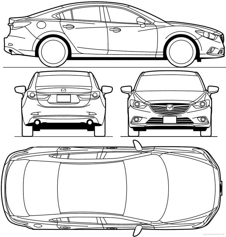 187 best car blueprints images on Pinterest | Cars, Car sketch and ...