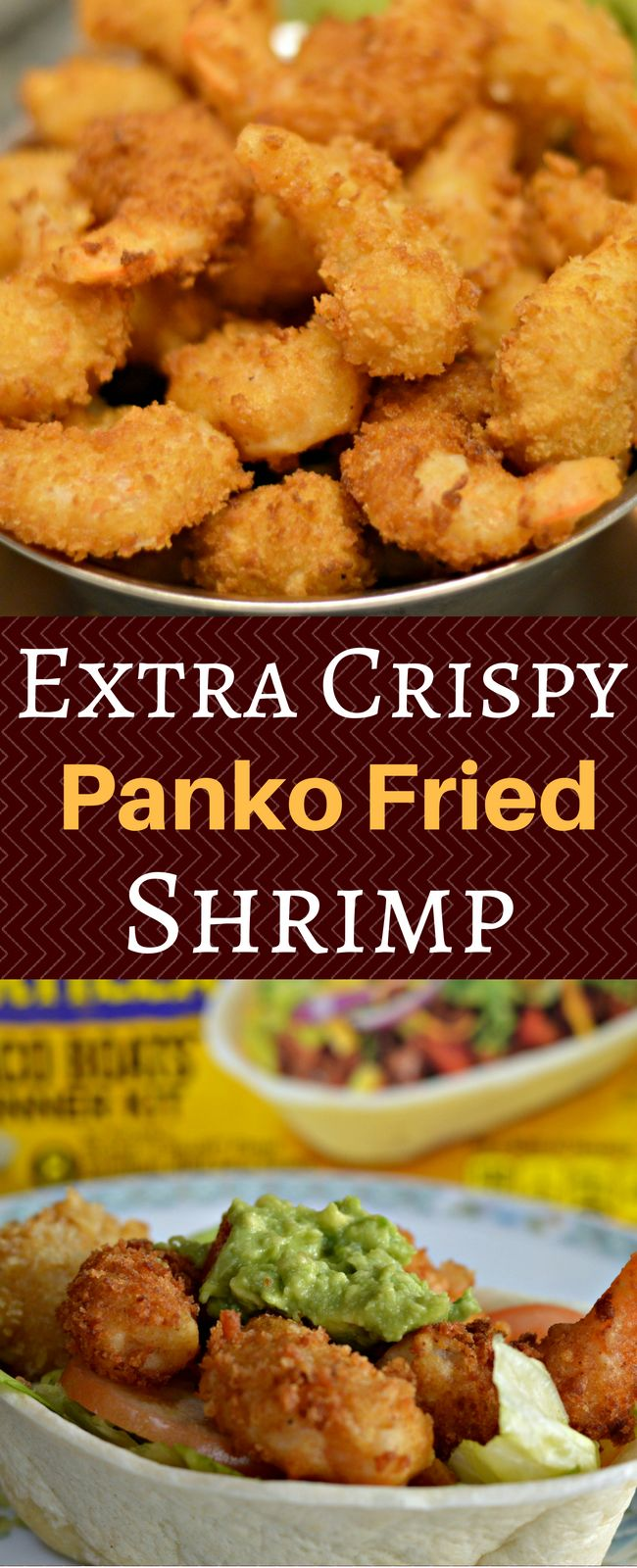 These Extra Crispy Panko Fried Shrimp are delicious and are perfect on their own or in a delicious taco bowl. Enjoy! #OEPGameday #ad @old