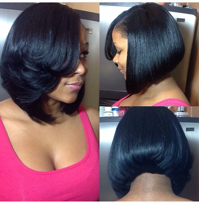 Sew-in Inverted Bob | Sew in protective styles | Pinterest