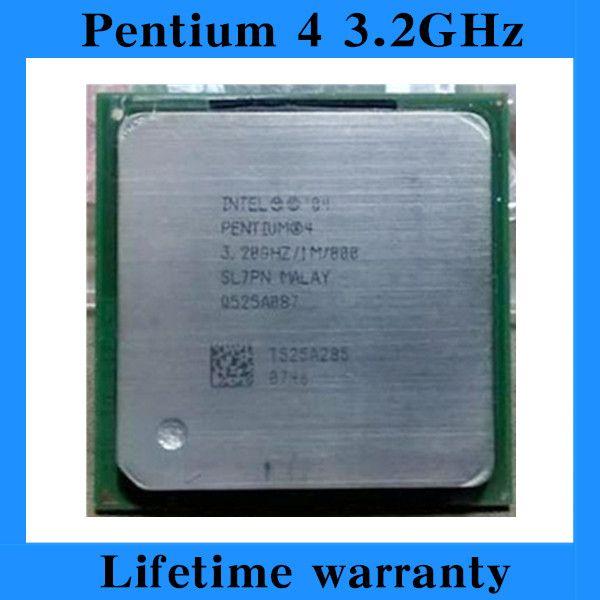 Lifetime warranty Pentium 4 3.2E 1M 800 3.2GHz P4 3.2 desktop processors PC CPU Socket