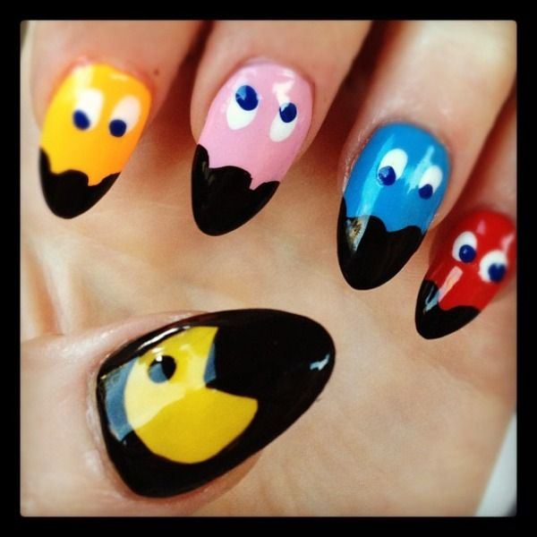 The 25 best pac man nails ideas on pinterest mens nails men get the look nicola roberts pac man nail art prinsesfo Image collections