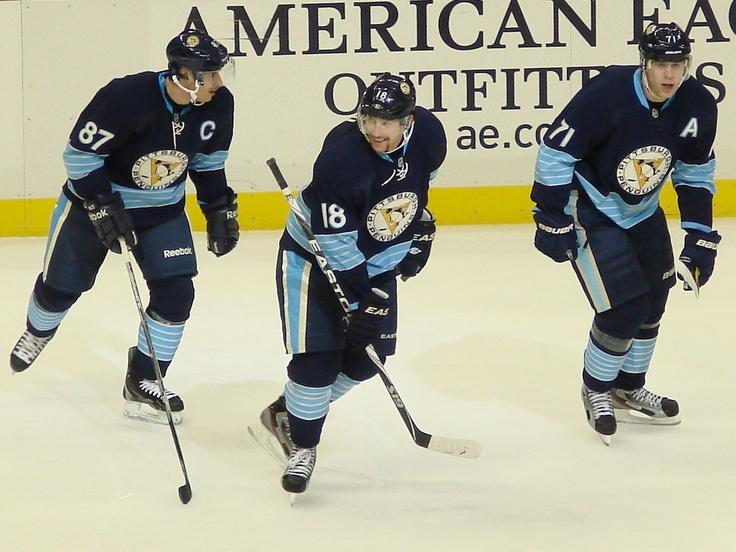 Everyone's fantasy dream team, but Pens' reality. Pittsburgh Penguins Nov 2011 Line: Sidney Crosby; James Neal; Evgeni Malkin