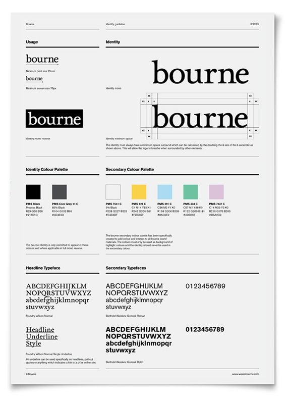 bourne, minimal style guide