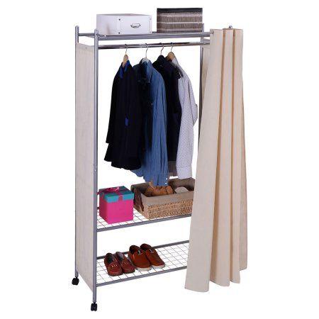 Costway 68u0027u0027 Portable Closet Storage Organizer Clothes Wardrobe Shoe Rack  Shelves ...