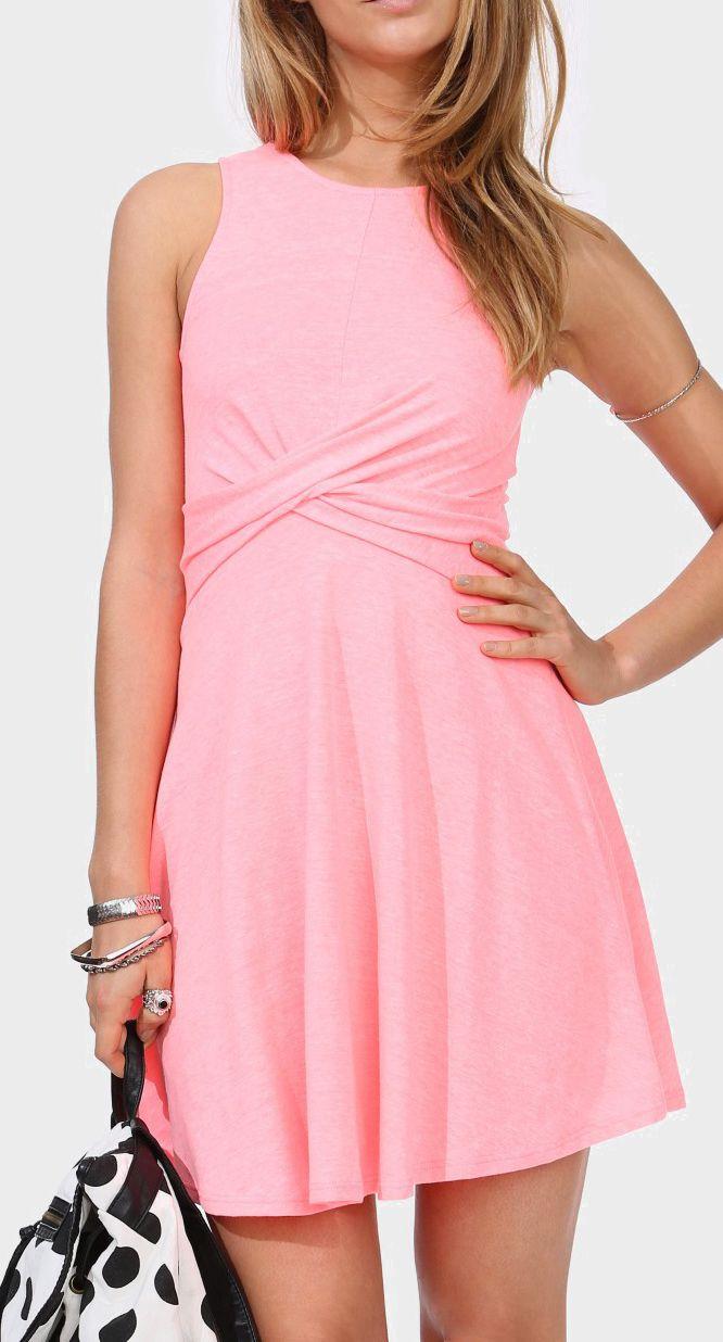 Twist Tank Dress--looks like it would be figure flattering
