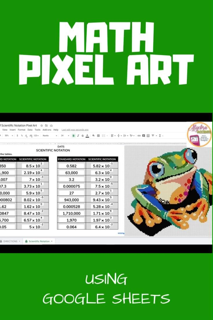 Predownload: Scientific Notation Pixel Art Video Math Lessons Scientific Notation Teacher S Blog [ 1102 x 736 Pixel ]