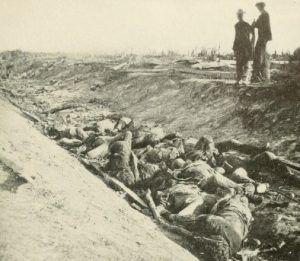 "The ""Bloody Lane"" or sunken road at Antietam"