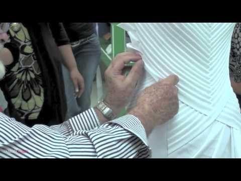 ESMOD Dubai Masterclass Draping - YouTube