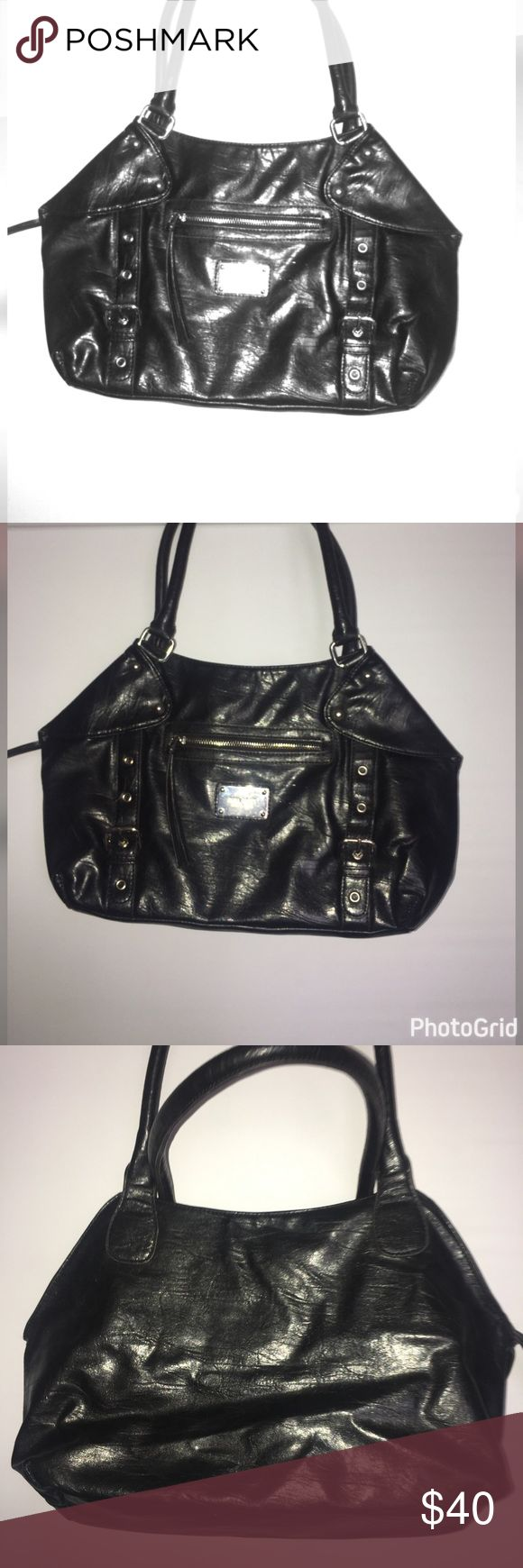 Black Beauty Nine West purse Black Beauty Nine West purse hobo bag very cute zips shut pocket on front Nine West Bags Hobos