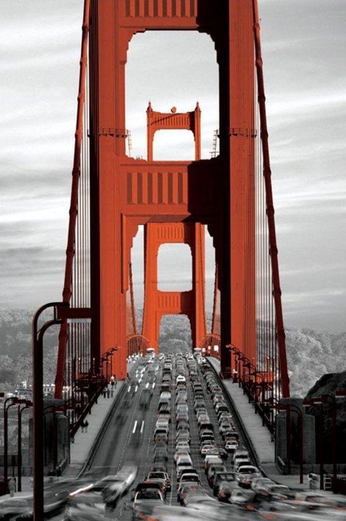 Golden Gate Bridge - San Francisco - Official Poster. Official Merchandise. Size: 61cm x 91.5cm. FREE SHIPPING