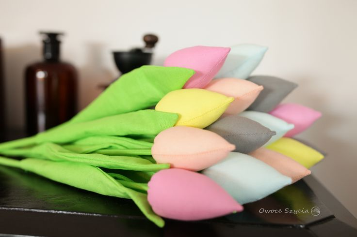 #owoceszycia Tulipany z materiału   Fabric tulips handmade, summer version