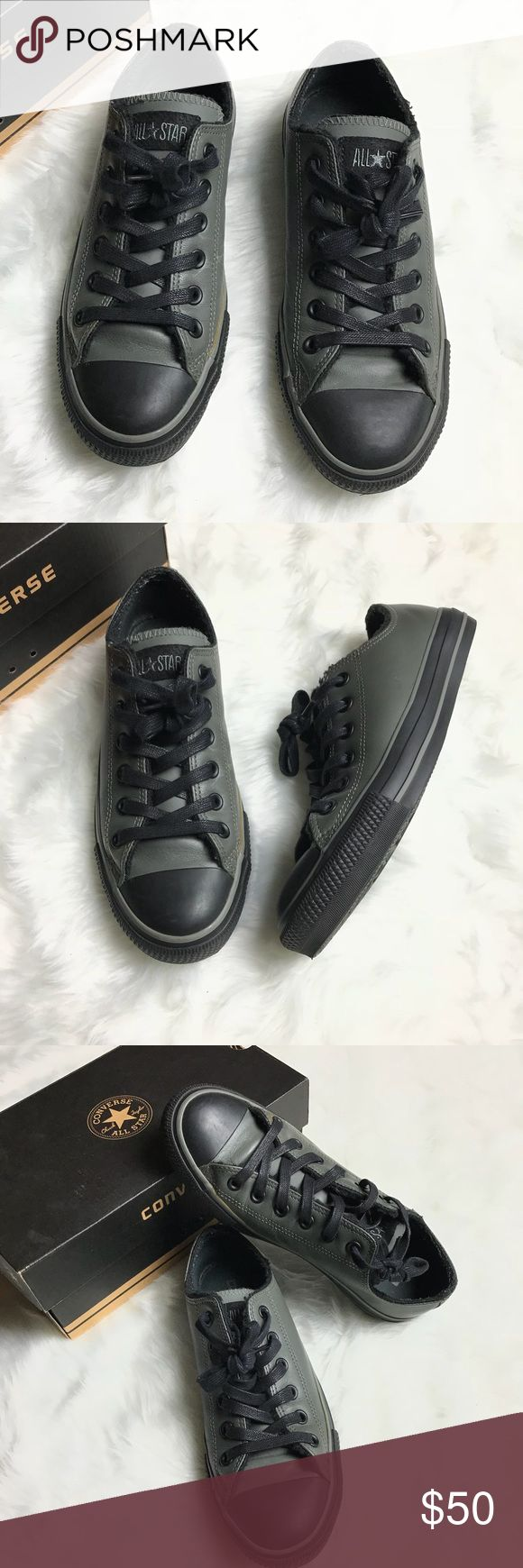Converse Chuck Taylor Leather Low Charcoal Shoes Converse Leather Low Charcoal Shoes  Unisex Women's Size 8 Men's Size 6  Used only a couple of times.  Thanks for visiting! ❤️ Converse Shoes Sneakers