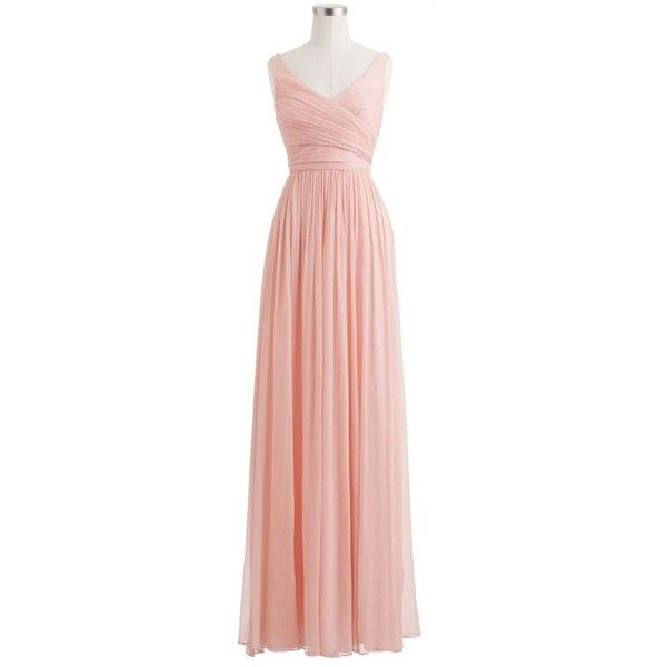 J.Crew Heidi gown in silk chiffon ($365) ❤ liked on Polyvore
