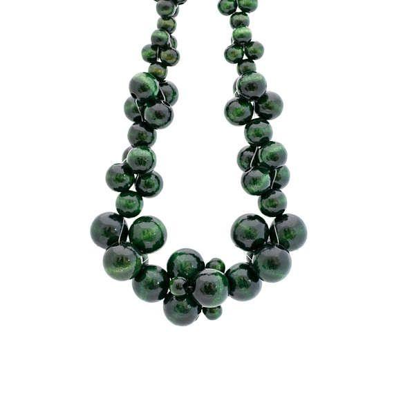 MoleCOOLs Dark Green wooden necklace