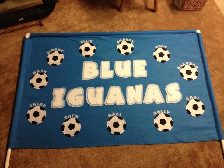 Felt soccer banner