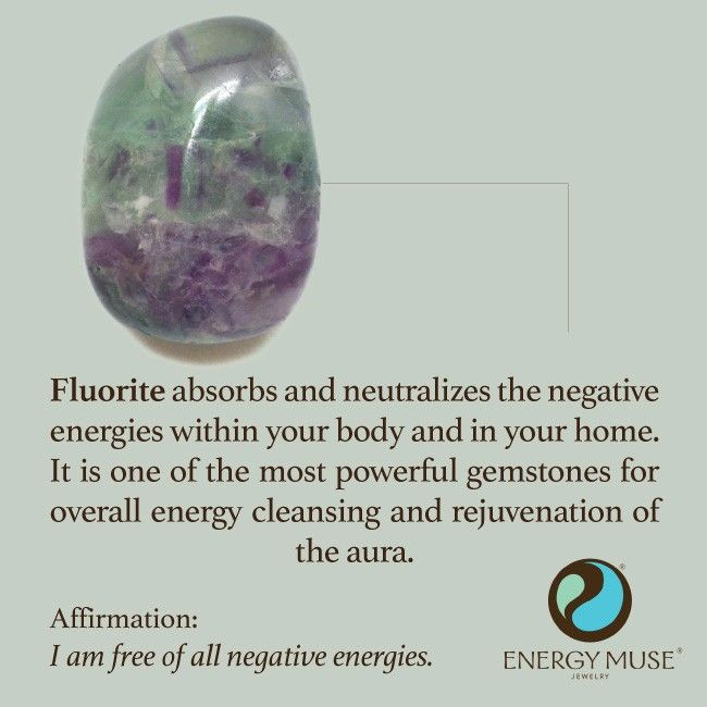 Fluorite absorbs and neutralizes the negative energies within your body and in your home. It is one of the most powerful gemstones for overall energy cleansing and rejuvenation of the aura.
