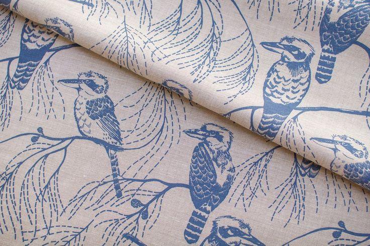 Ink & Spindle Fabric: Kookaburra in Indigo