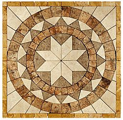 Stone Collection Mexican Travertine Medallions Marques