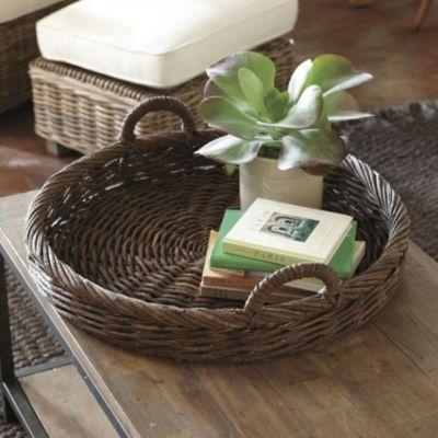cesta con tejido de papel que imita caña